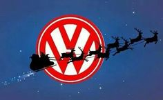 VW Logo with santa and reindeer Volkswagen New Beetle, Vw T1, Volkswagen Logo, Beetle Bug, Vw Logo, T6 California, Vw Camping, Combi Vw, Vw Vintage