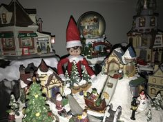 15th December - Jingle was playing hide and seek in our Christmas Village