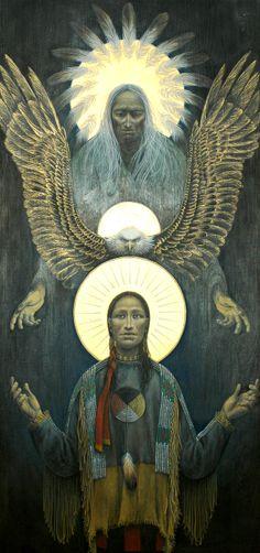 """Big celebration, today: Epiphany. The manifestation of The Holy Trinity. Interesting shamanic version. John B. Giuliani: """"The Trinity"""" / Embodied"""