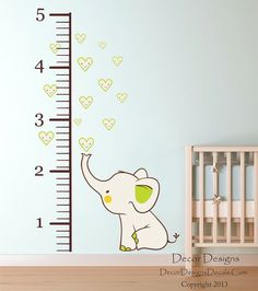 Elephant Growth  Chart 8.5 wide x 54 high, Elephant measures 19 wide x 21 high.  40.00