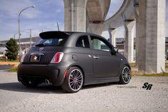 fiat 500 abarth novitec black matt cars pur wheels tuning wallpaper background
