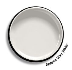 Resene Wan White is an umber white, warmer than grey. View this and of other colours in Resene's online colour Swatch library White Paint Colors, Wall Paint Colors, Interior Paint Colors, Exterior House Colors, Exterior Paint, Resene Colours, Split Complementary, Color Studies
