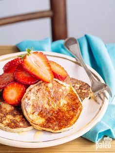 Whether it's your Saturday morning ritual or your everyday breakfast staple, you'll love these simple Paleo banana pancakes. #paleo #pancakes #banana