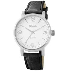 Breda Women's 8218-black Clair Brushed Metal Case Watch Breda. $25.20. Brushed silver bezel. Water-resistant - not recommended to take into deep water or shower. Black alligator pattern band with silver buckle. White dial with silver hour markers and hands. Highest standard quartz movement