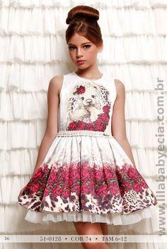 Vestido Infantil Miss Cake Doce Princesa 510128
