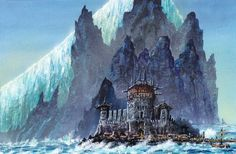 """Eastwatch by the sea by Franz Miklis. """"Davos had traded at Eastwatch in his smuggling days. The black brothers made hard enemies but good customers, for a ship with the right cargo."""""""