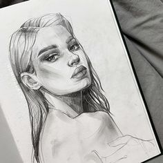 Sketch by Humid Peach. Humid Peach is the name of the artist whose real name is Ksenia Kondyleva. Continue Reading and for more sketch → View Website Pencil Art Drawings, Realistic Drawings, Art Drawings Sketches, Cute Drawings, Realistic Mermaid Drawing, Drawing Faces, Drawing Art, L'art Du Portrait, Portrait Sketches