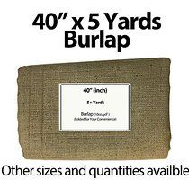 "Burlap Fabric 40"" Wide X 5 Yards"