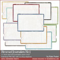 Rimmed Journalers No. 01 - Digital Scrapbooking Elements DesignerDigitals