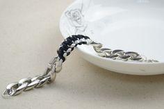 Bracelets For Guys  Diy Survival Bracelet With Chunky Chain
