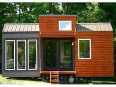 Rustic Modern Tiny House - Click through to see pictures of the inside - it's beautiful.