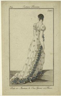 Court dress, 1809, Journal des dames et des modes