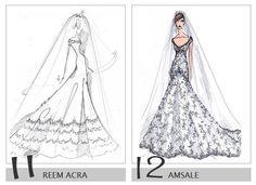 06 royalty wedding dress design sketch ideas for