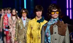 Gucci @ Milan Fashion Week: 'Handbags were carried by men with Robert Peston hair and Jarvis Cocker glasses'