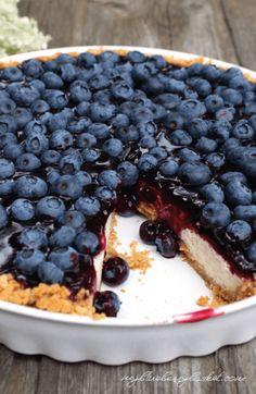 Cheesecake mit Heidelbeeren