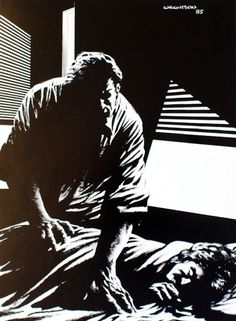www.berniewrightson.com The Stand - By Stephen King,  Stu Redman comforts his mother.