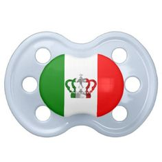 #Vintage Crown Modern Italy Italian Flag Pacifier - #giftideas for #kids #babies #children #gifts #giftidea