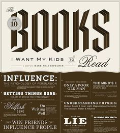 TOP TEN BOOKS I WANT MY KIDS TO READ By MARK FRAUENFELDER #darkrye