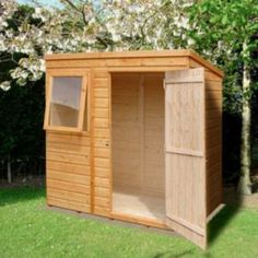 6x4 Caldey Pent Shiplap Wooden Shed With Assembly Service Outdoorshedplans With Images Wooden Sheds Building A Shed Shed Plans