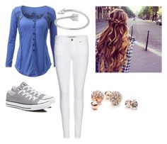 """""""Untitled #9"""" by whitwhitmartin on Polyvore featuring Converse, Burberry and GUESS"""