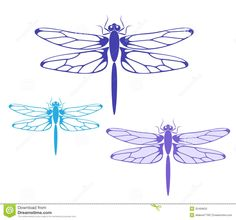 purple dragonfly clipart - Google Search