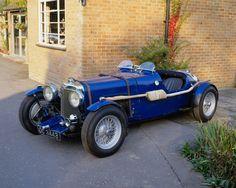 Blue car (Aston Martin)