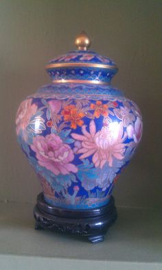 Love the lavendar and pink hues....stunning example of Cloisonne.