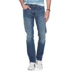 Men's Urban Pipeline® Stretch Slim-Fit Jeans, Size: 32X30, Med Blue