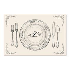Monogrammed Paper Placemats
