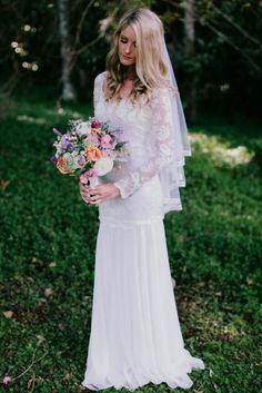 boho wedding dress with sleeves  #WeddingDresses for   :)