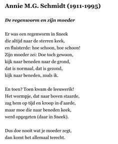 Gedicht Annie M G. Schmidt De regenworm