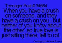 having a crush on someone