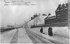 Dufferin Terrace and toboggan slide, Quebec City, QC, about 1910 Old Quebec, Quebec City, Chute Montmorency, Chateau Frontenac, Le Petit Champlain, Canada, Paris, Vintage Pictures, Places Ive Been