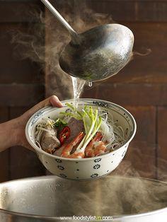 Hủ tiếu Mỹ Tho - Vietnam Food Stylist | Client: Phương Nam Book | Photograph by: Wing Chan at BITE Studio | Food & Prop Stylist: Tiến Nguyên