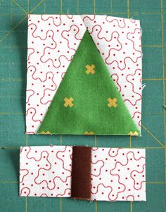 Fun and fast modern tree quilt block tutorial. Make your own personalized, imrpov wonky trees using your favorite fabrics. Quick cutting and assembly. Christmas Tree Quilt Block, Christmas Patchwork, Christmas Sewing, Christmas Crafts, Christmas Quilt Patterns, Christmas Quilting, Christmas Trees, Patchwork Quilting, Quilt Block Patterns