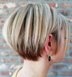 Bob Haircut Back View, Pixie Bob Haircut, Bob Haircut For Fine Hair, Longer Pixie Haircut, Long Pixie Hairstyles, Short Pixie Haircuts, Hairstyles Haircuts, Short Hair Cuts, Short Hair Styles