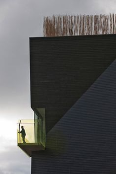 Steven Holl Architects — Knut Hamsun Center // Empress of Style Oma Architecture, Beautiful Architecture, Contemporary Architecture, Architecture Details, Alvar Aalto, Exterior Design, Interior And Exterior, Steven Holl, Renzo Piano