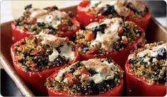 Quinoa-Stuffed Red Bell Peppers Recipe