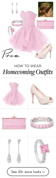 """""""Pink Prom"""" by briony-jae on Polyvore featuring Judith Leiber"""