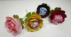 Spiral Flower Lollipops