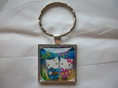 Nippon Japan Postage Stamp Hello Kitty & Friends by BadCatCraft