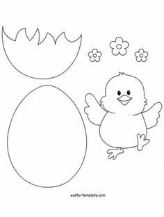Easter chick patterns easter chick stitchery freebie pattern easter chick and egg template easter template pronofoot35fo Images