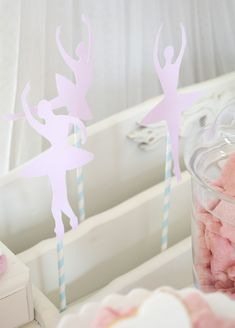 Pink and Ballerina Party with Lots of Really cute Ideas via Kara's Party Ideas KarasPartyIdeas.com #balletparty #balletcake #balletpartyidea...
