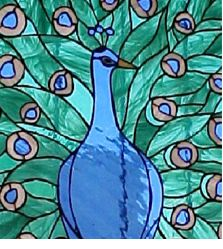 stained glass patterns peacock | Stained glass peacock Scrabble tile pendant | RoseCityCrafter ...
