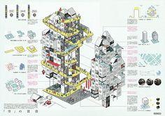 Japan Architecture, Creative Architecture, Architecture Panel, Architecture Visualization, Concept Architecture, Presentation Format, Architecture Presentation Board, Landscape Illustration, Design Reference