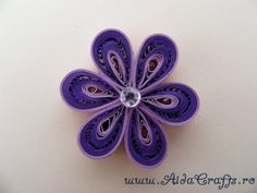 ▶ Quilling - Floare - Tutorial 3 - AidaCrafts - YouTube