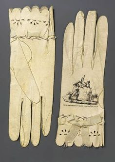 Pair of women's kid gloves. Spanish, 1810–30. MFA Boston.