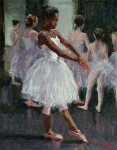 Sue Foell - Rehearsal Watching my daughter's dance company rehearse for the Nutcracker ballet last year gave me plenty of material to paint from. Black Girl Art, Black Women Art, Art Ballet, Arte Black, Art Noir, Black Dancers, Afrique Art, Black Art Pictures, Drawn Art