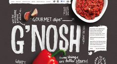 Bold, hand done, long scrolling site.   Very nice.   http://gnosh.co.uk/