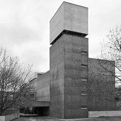 St. Agnes church, 1967, Kreuzberg,Berlin, Germany. Architecture: Werner